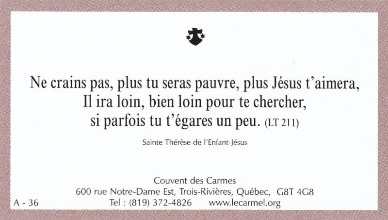 Petites paroles de Sainte-Thérèse de l'Enfant-Jésus et de la Sainte-Face - Page 2 A-3610