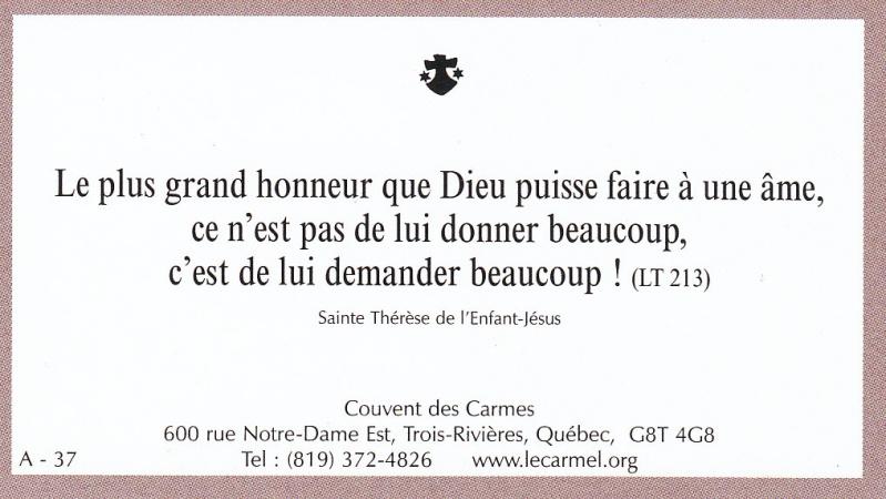 Petites paroles de Sainte-Thérèse de l'Enfant-Jésus et de la Sainte-Face - Page 2 A-3710