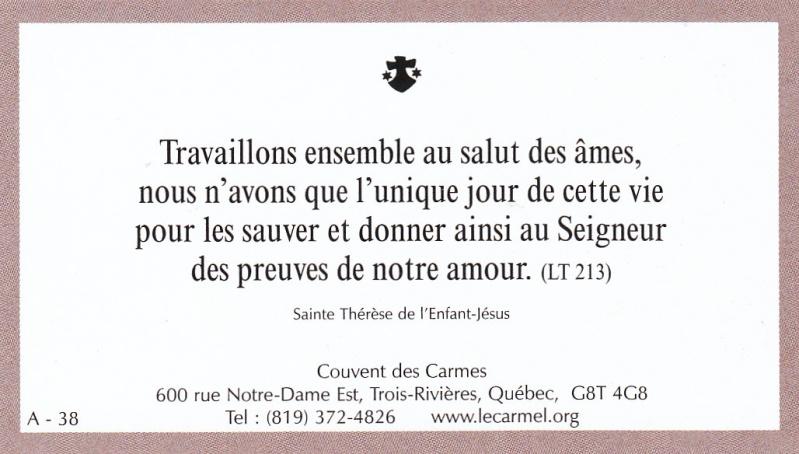 Petites paroles de Sainte-Thérèse de l'Enfant-Jésus et de la Sainte-Face - Page 2 A-3810