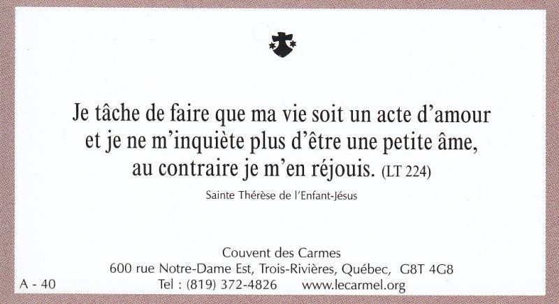 Petites paroles de Sainte-Thérèse de l'Enfant-Jésus et de la Sainte-Face - Page 2 A-4010