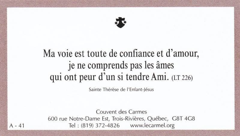 Petites paroles de Sainte-Thérèse de l'Enfant-Jésus et de la Sainte-Face - Page 2 A-4110
