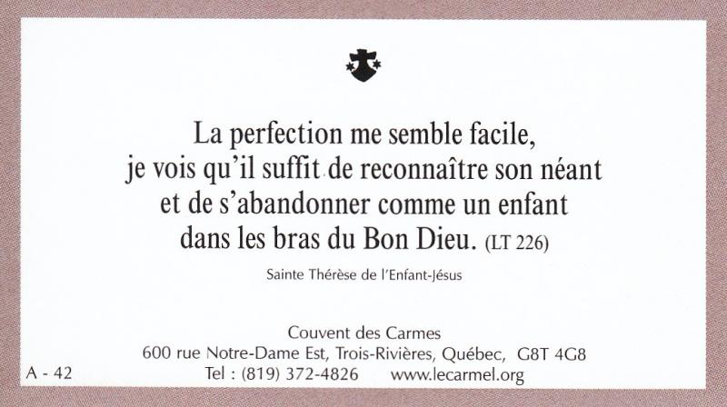 Petites paroles de Sainte-Thérèse de l'Enfant-Jésus et de la Sainte-Face - Page 2 A-4210