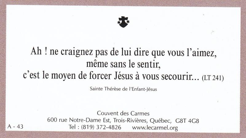 Petites paroles de Sainte-Thérèse de l'Enfant-Jésus et de la Sainte-Face - Page 2 A-4310