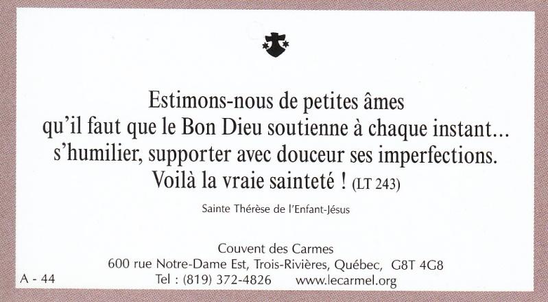 Petites paroles de Sainte-Thérèse de l'Enfant-Jésus et de la Sainte-Face - Page 2 A-4410