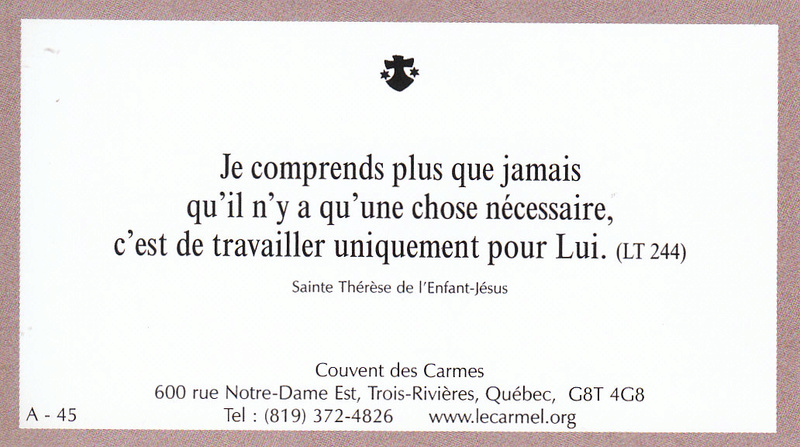 Petites paroles de Sainte-Thérèse de l'Enfant-Jésus et de la Sainte-Face - Page 2 A-4510