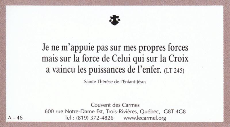 Petites paroles de Sainte-Thérèse de l'Enfant-Jésus et de la Sainte-Face - Page 2 A-4610