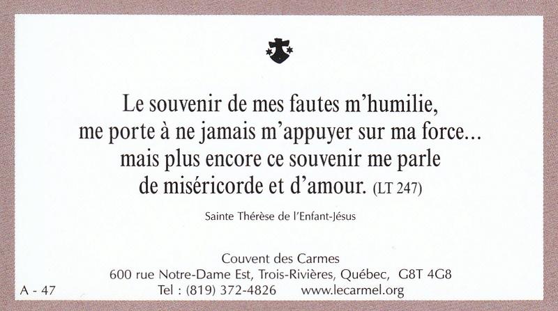 Petites paroles de Sainte-Thérèse de l'Enfant-Jésus et de la Sainte-Face - Page 2 A-4710