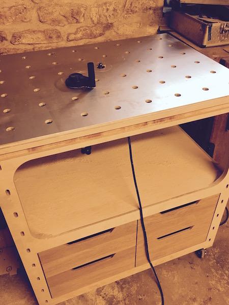 meuble defonceuse sous table pour festool OF1010 Fullsi10