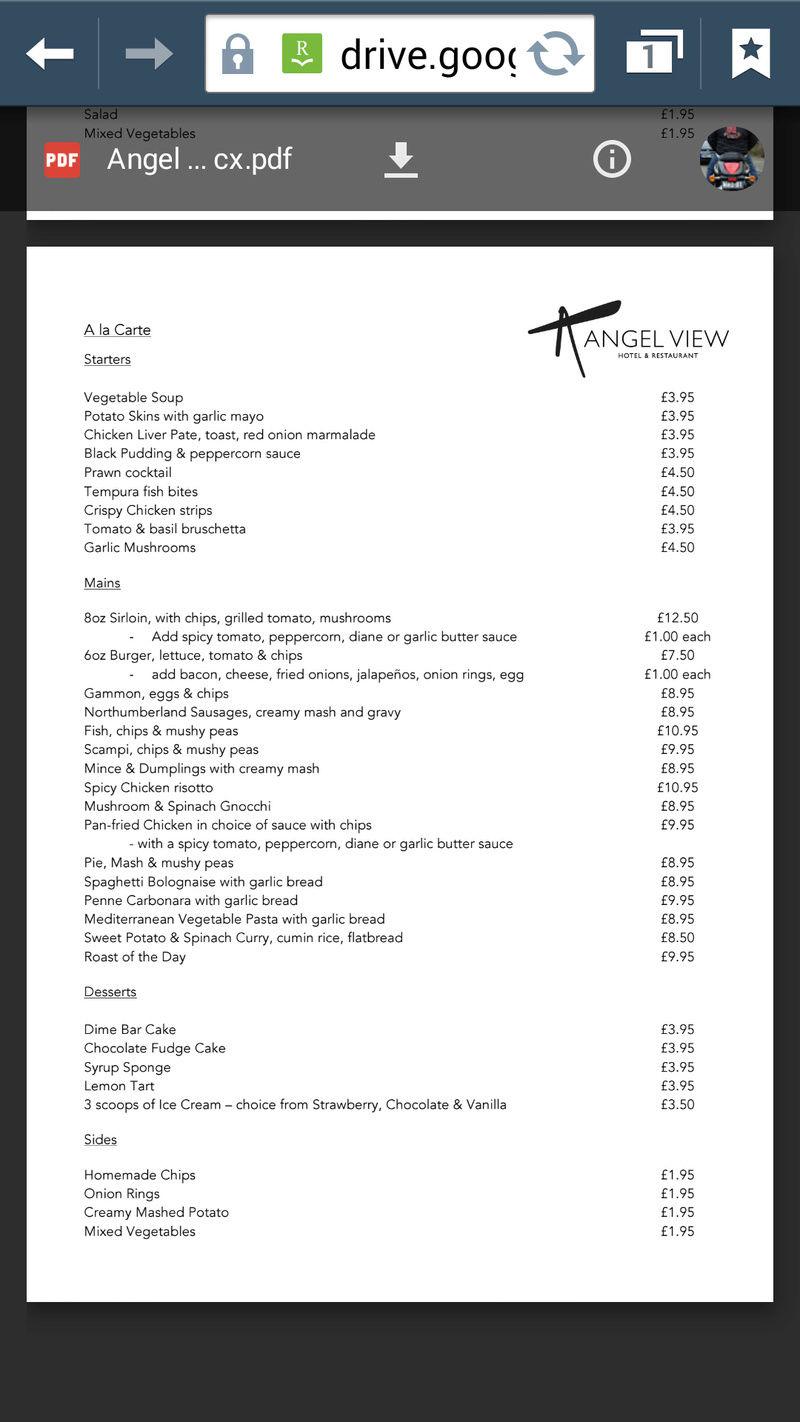 IOCUK 14th summer meet - Meal menu. Screen11