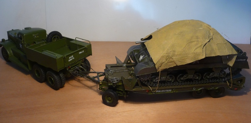 U.S. M19 TANK TRANSPORTER with hard top cab + remorque porte char 1/35  P1060811