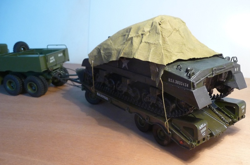 U.S. M19 TANK TRANSPORTER with hard top cab + remorque porte char 1/35  P1060813
