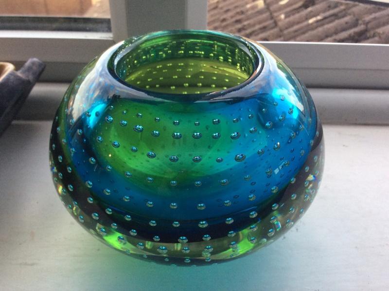 Murano? Galliano Ferro? Controlled bubble vase Image25
