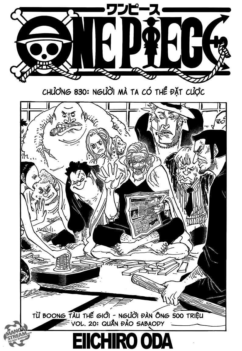 One Piece Chapter 830: Người mà ta có thể đặt cược. 00111