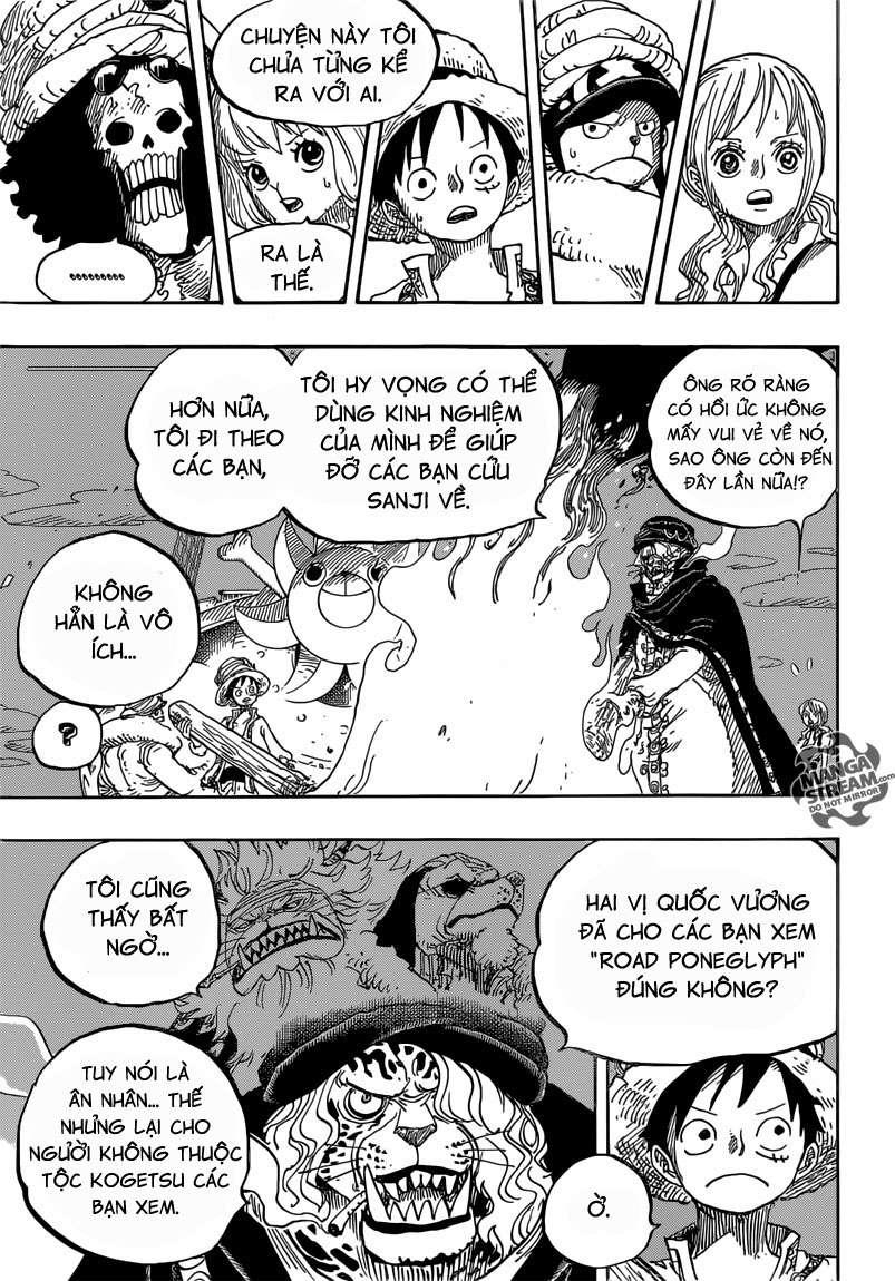 One Piece Chapter 830: Người mà ta có thể đặt cược. 01311
