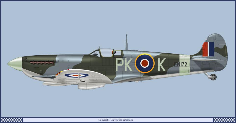 Supermirine Spitfire MK IX C 1/48 Eduard 9_28910