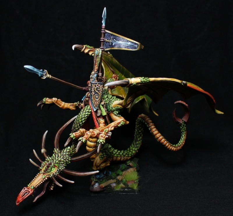 Equivalence figurines KoW Warhammer Hauts Elfes + sylvains = Elfes Dragon10
