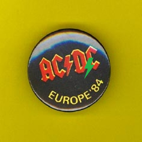 "1984 - Monsters of rock ""Tour"" Badge110"