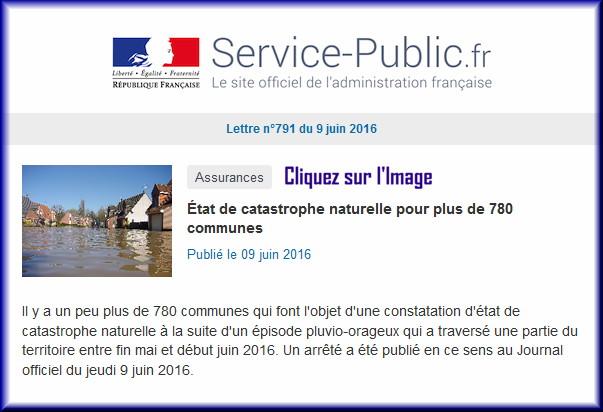 """La lettre N° 791 de """"Service Public"""" pour le 09 Juin  2016 79110"""