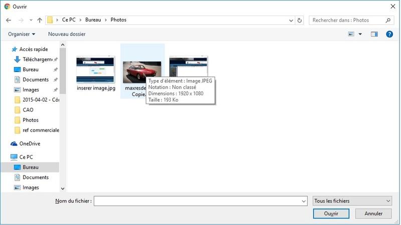 Comment insérer une photo Select11