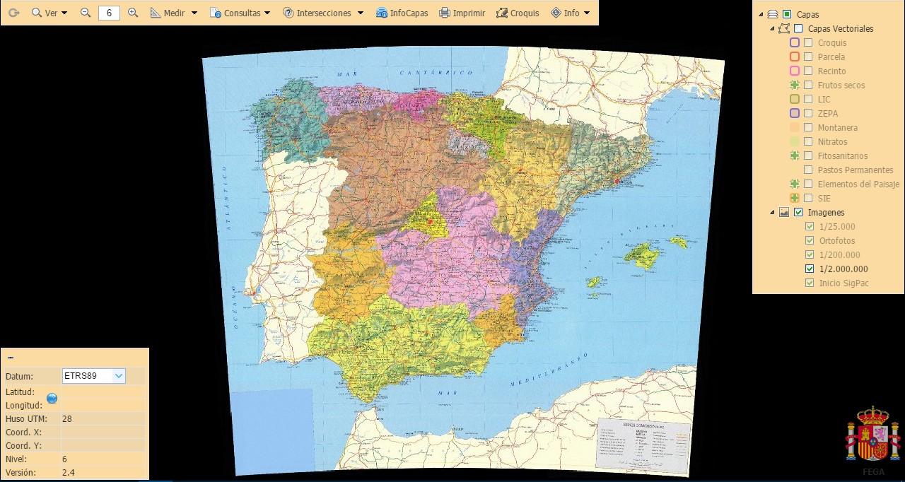 Carte de l'Espagne au 1:200.000 2016-016