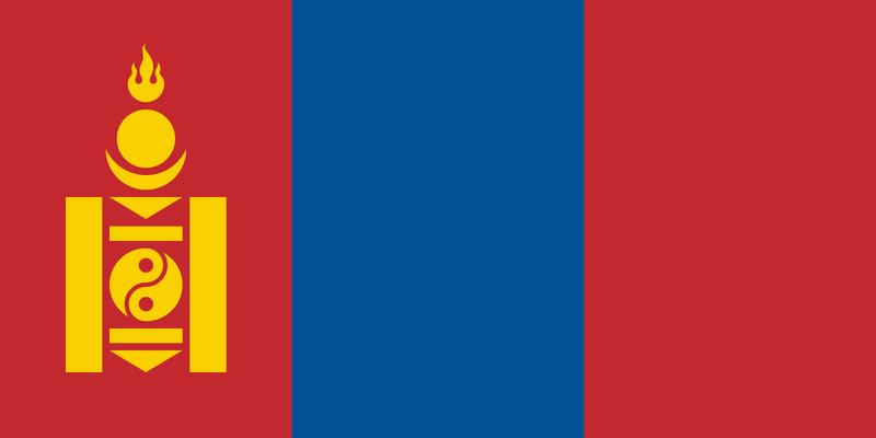 the flag of Mongolia Flag_o10