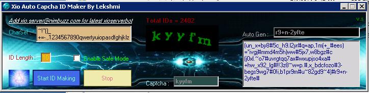 Xio Auto Captcha ID Maker. Fastest Auto ID Maker Xioidm11