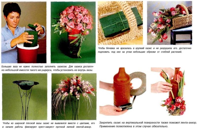 Как работать с оазисом для цветов? Oazis-16