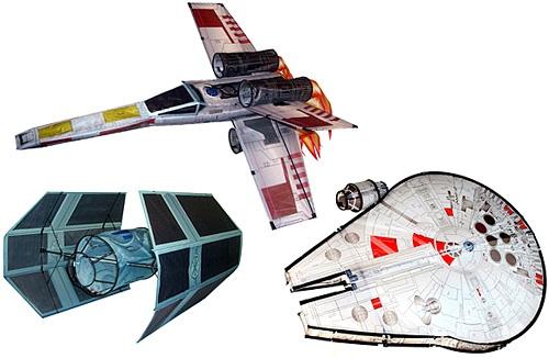 FREE Star wars 3D Kites - Xwing, Tie Fighter & Millenium Falcon Swkite17