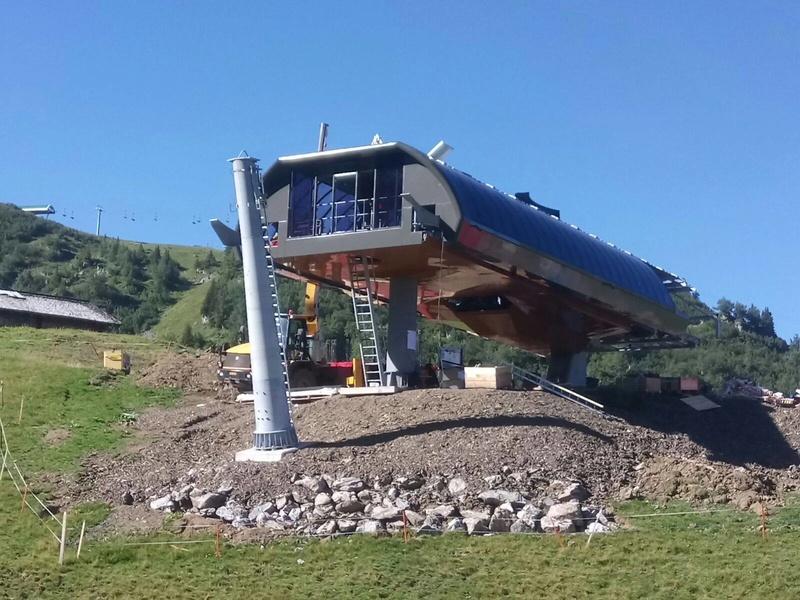 """Construction de télésièges dans le domaine """"Diablerets-Villars-Gryon (Suisse)"""" 14102910"""