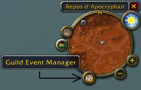 Add-on GuildEventManager (GEM) pour s'inscrire aux raids in game. Guild_15