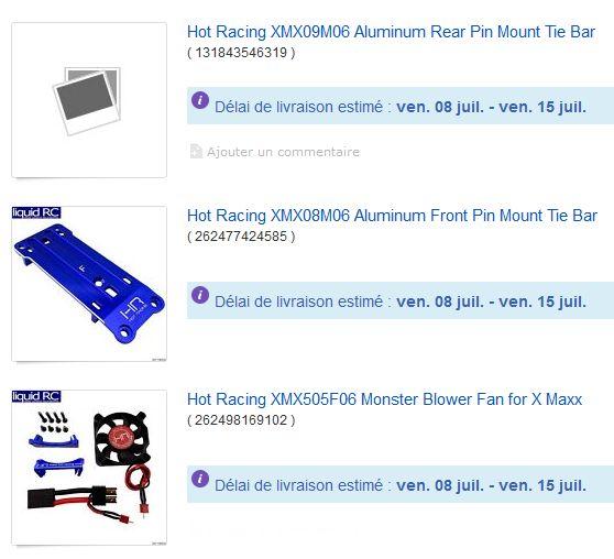 [NEW]Support Tirant Avant Arrière X-Maxx Hot Racing/Aluminum Pin Mount Tie Bar XMX08M06/XMX09M06 Liquid10