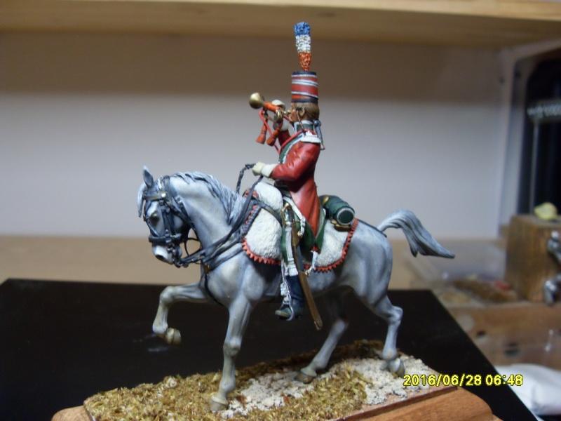 Trompette des guides chasseurs 1798 - figurine Métal Modèle peinture à l'huile Sdc10910