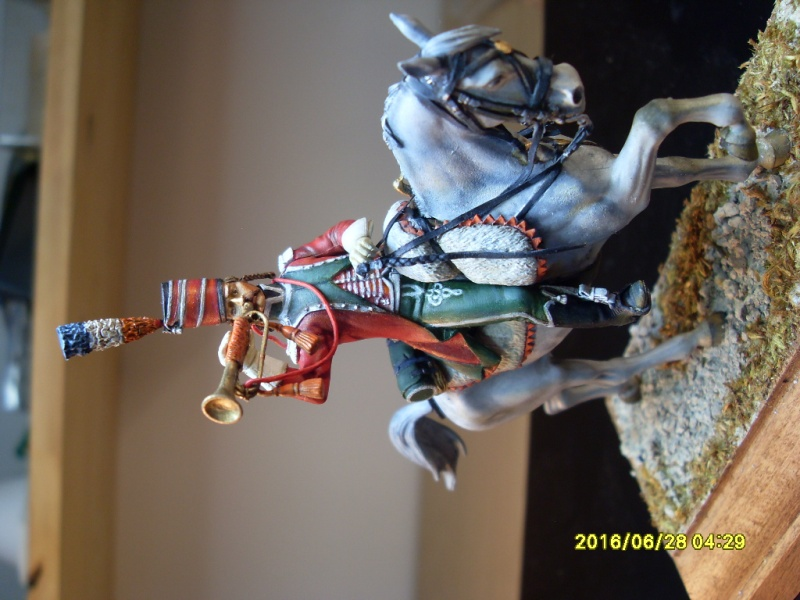 Trompette des guides chasseurs 1798 - figurine Métal Modèle peinture à l'huile Sdc10922