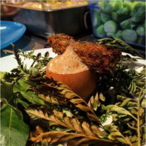 Recette du chef Maximilien Kuzniar de la Plantxa : Œufs Toqués, champignons et noisettes 216
