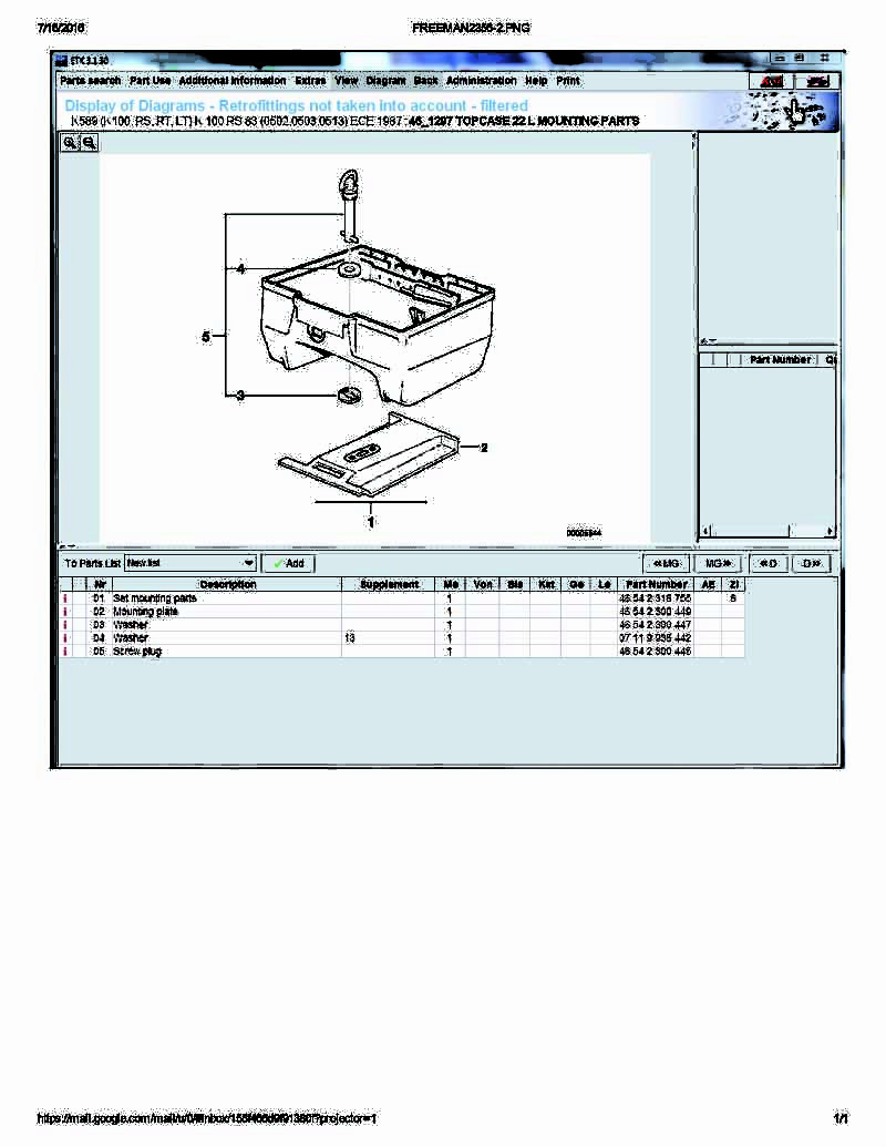 WTB  Top Case mounting plate part # 46542300449 Freema10