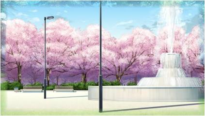 Springbrunnen im Kirschbaumpark Spring10