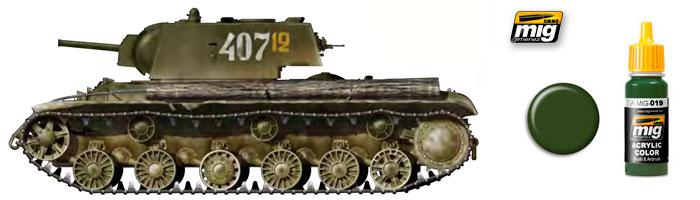 Зелёные цвета для Российской бронетехники от компании Ammo of Mig Jimenez 019_st10