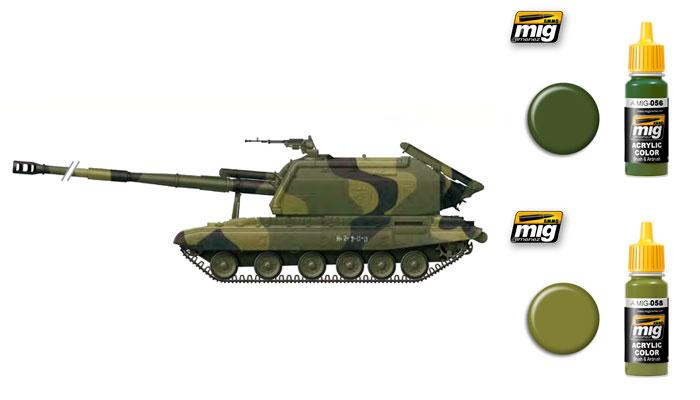 Зелёные цвета для Российской бронетехники от компании Ammo of Mig Jimenez 056_0510
