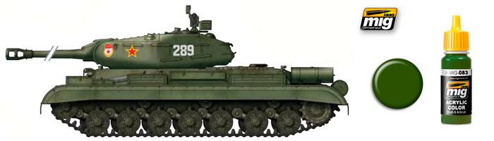 Зелёные цвета для Российской бронетехники от компании Ammo of Mig Jimenez 083_st10