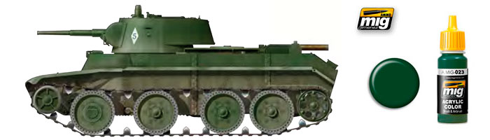 Зелёные цвета для Российской бронетехники от компании Ammo of Mig Jimenez 23_st10
