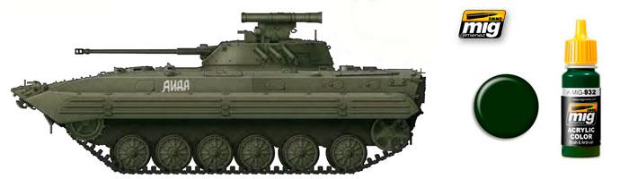 Зелёные цвета для Российской бронетехники от компании Ammo of Mig Jimenez 932_st10