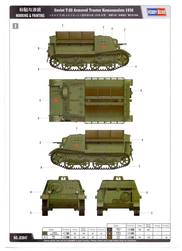 """Т-20 """"Комсомолец"""" от HobbyBoss Image10"""