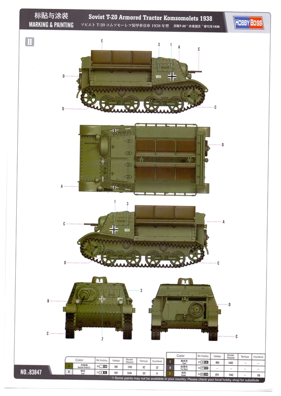"""Т-20 """"Комсомолец"""" от HobbyBoss Image_10"""