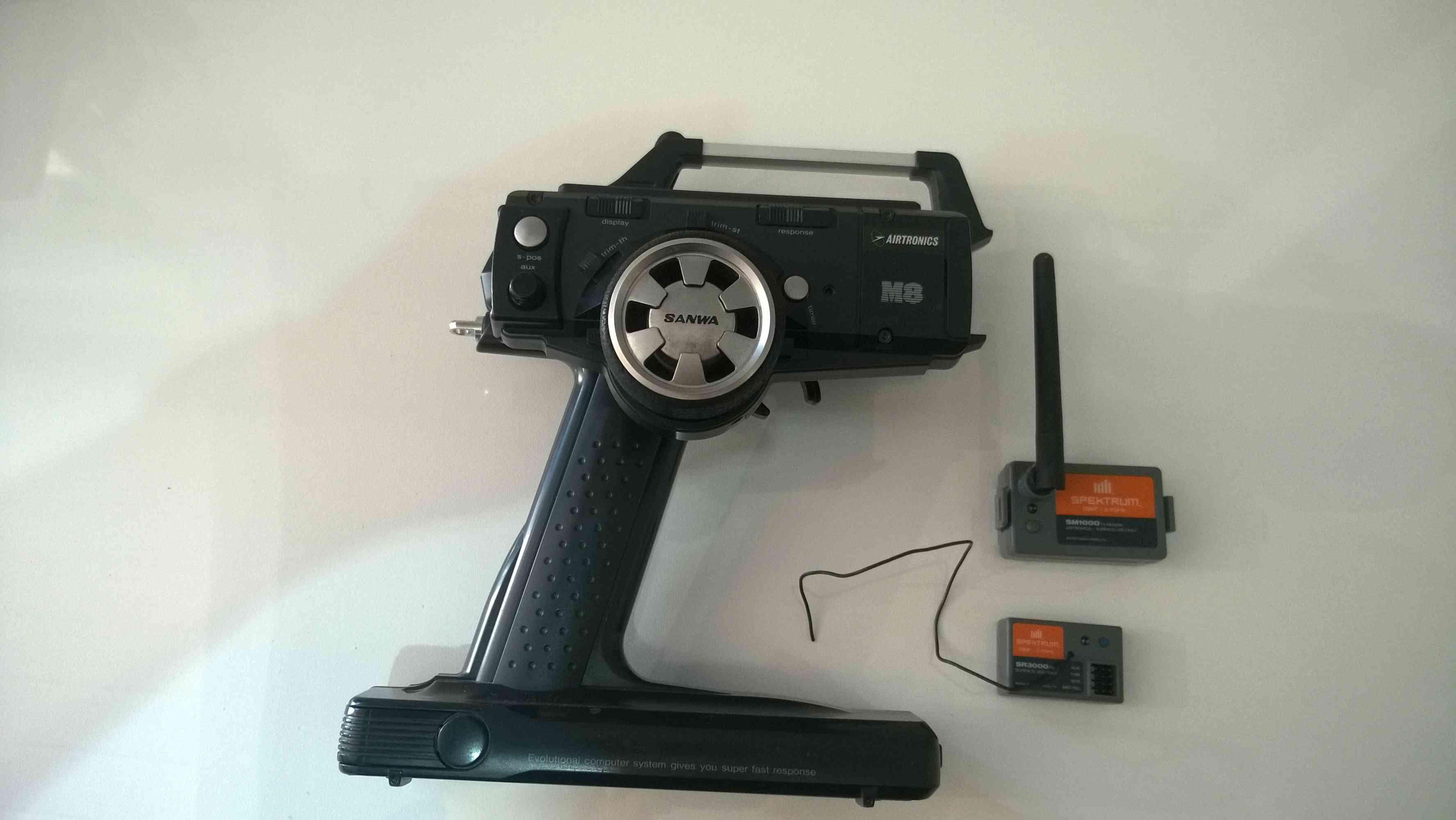 Vendue!  Radio SANWA M8 + Module Spektrum SM1000+récepteur SR3000 Baisse du prix Wp_20124