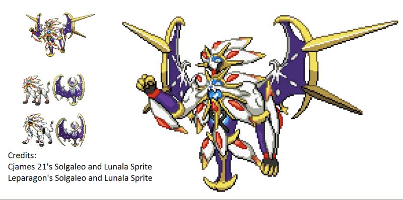 Pixel Art Pokemon Solgaleo