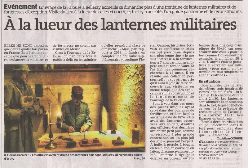Exposition lanternes militaires et de forteresse, La Falouse, Verdun 13937810