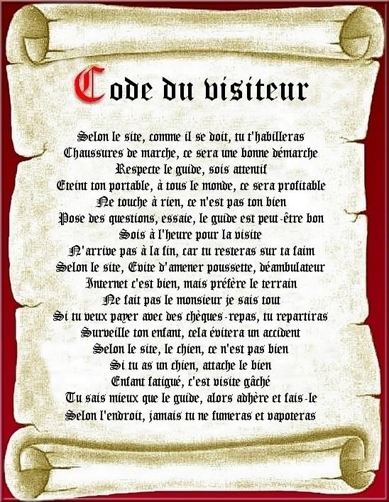 CODE DU VISITEUR Code_d13