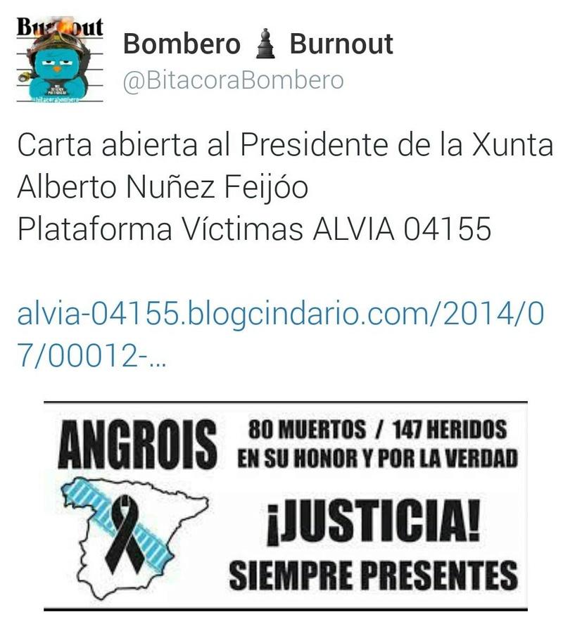 Carta abierta al Presidente de la Xunta de la Plataforma de Víctimas del Alvia 04155 162
