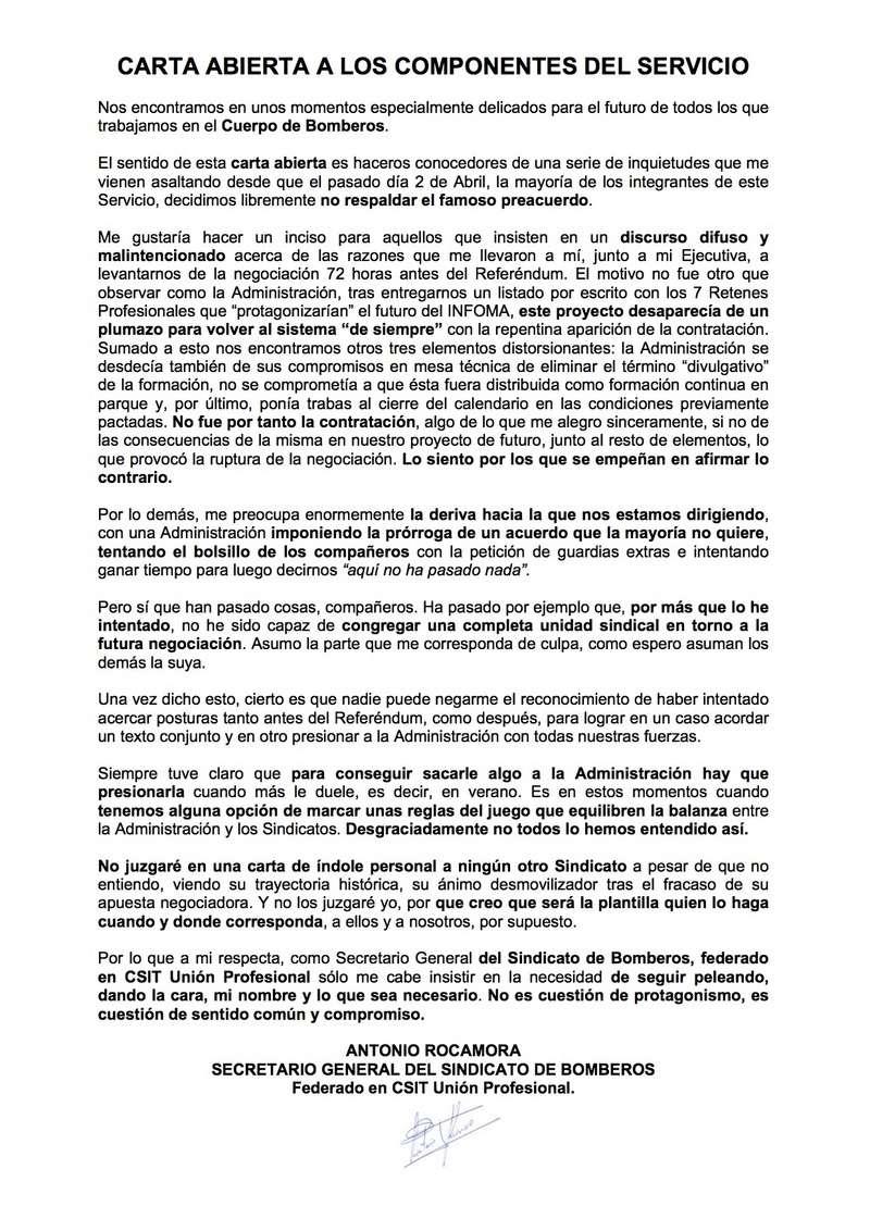 Carta abierta a los componentes del Cuerpo de bomberos de la Comunidad de Madrid Carta_10