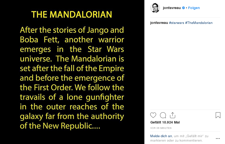 The Mandalorian, Premiere on Disney+ on November 12, 2019 - Page 2 Theman11